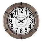 FirsTime® Modern Rustic Round Wall Clock in Wood