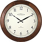 FirsTime® Garrison Round Wall Clock in Walnut