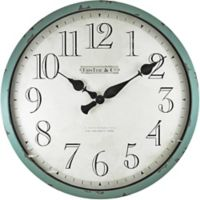 FirsTime® Bellamy Round Wall Clock in Teal