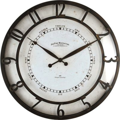 FirsTime® Cameron Whisper Round Wall Clock In Brown