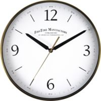 FirsTime® Metal Round Wall Clock in Brushed Gold