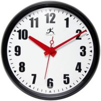 Infinity Instruments 15-Inch Impact Wall Clock in Black