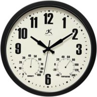 Infinity Instruments 14.25-Inch Patio Wall Clock in Black