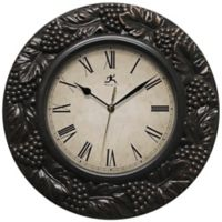 Infinity Instruments 13.5-Inch Napa Wall Clock in Pewter