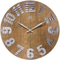 Infinity Instruments 27-Inch Colonial Wall Clock in Brown