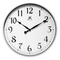 Infinity Instruments 18-Inch Classic Wall Clock in Silver