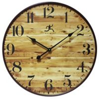 Infinity Instruments 24-Inch Eaglewood Wall Clock in Rustic Brown