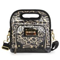 Bebe Coco Reusable Insulated Lunch Bag in Black/Gold