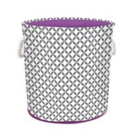 Collapsible Hamper/Tote in Grey/White