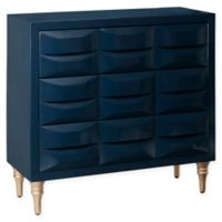 Madison Park Rubrix 3-Drawer Chest in Navy