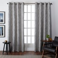Finesse 108-Inch Grommet Top Window Curtain Panel Pair in Ash Grey
