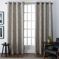 Finesse 108-Inch Grommet Top Window Curtain Panel Pair in Natural