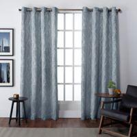 Finesse 108-Inch Grommet Top Window Curtain Panel Pair in Steel Blue