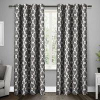 Gates 96-Inch Grommet Top Room Darkening Window Curtain Panel Pair in Black