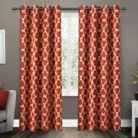 Gates 84-Inch Grommet Top Room Darkening Window Curtain Panel Pair in Orange