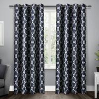 Gates 96-Inch Grommet Top Room Darkening Window Curtain Panel Pair in Blue