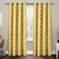 Gates 108-Inch Grommet Top Room Darkening Window Curtain Panel Pair in Yellow