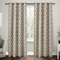 Gates 108-Inch Grommet Top Room Darkening Window Curtain Panel Pair in Taupe