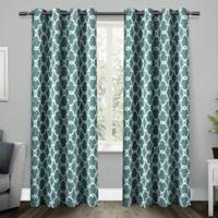 Gates 108-Inch Grommet Top Room Darkening Window Curtain Panel Pair in Teal