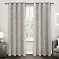 Forest Hill 108-Inch Grommet Top Room Darkening Window Curtain Panel Pair in Light Grey