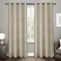 Forest Hill 108-Inch Grommet Top Room Darkening Window Curtain Panel Pair in Natural
