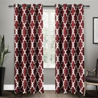 Ironwork 84-Inch Grommet Top Room Darkening Window Curtain Panel Pair in Burgundy