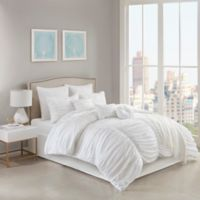 Jasmine 10-Piece California King Comforter Set in White