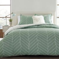 City Scene Ceres Reversible Full/Queen Duvet Cover in Green