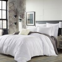 City Scene Courtney Twin Duvet Cover Set in White