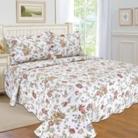 Sudbury Reversible Twin Quilt Set in White