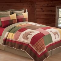 C&F Enterprises, Inc Luke Reversible King Quilt in Brown