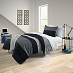 Brent 8-Piece Full/Full XL Comforter Set in Black/Grey