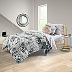 Equip Your Space Mademoiselle 6-Piece Reversible Full/Full XL Comforter Set in Grey
