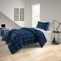 Rowan 7-Piece Reversible Full/Full XL Comforter Set in Dark Navy
