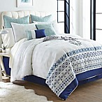Mandy Boho 12-Piece Queen Comforter Set in White/Blue