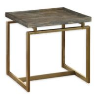 Coast to Coast Imports Eden Biscayne End Table in Weathered Brown/Gold