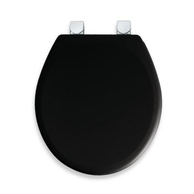 Mayfair® Easy Clean U0026 Change™ Wide Round Toilet Seat In Black