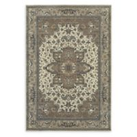 Oriental Weavers Pasha Woven 5'3 x 7'6 Area Rug in Ivory