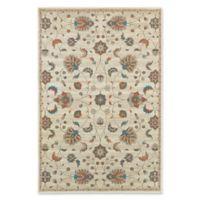Oriental Weavers Geometric Floral 9'10 x 12'10 Area Rug in Beige