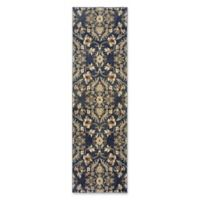 Oriental Weavers Pasha Damask 2'3 x 7'6 Runner in Blue