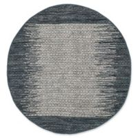 Safavieh Vintage Leather 4' x 4' Logan Rug in Charcoal