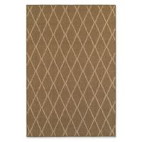 Oriental Weavers Santa Rosa Diamond Woven 5'3 x 7'6 Area Rug in Brown