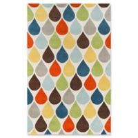 Momeni Delhi Teardrop Hand-Tufted 8' x 10' Accent Rug in Multi