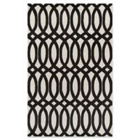 Momeni Delhi Hand-Tufted Geometric Looped 5' x 8' Accent Rug in Black