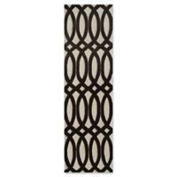 Momeni Delhi Hand-Tufted Geometric Looped 2'3 x 8' Accent Rug in Black