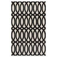 Momeni Delhi Geometric Looped 8' x 10' Hand-Tufted Area Rug in Black