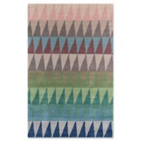 Momeni Delhi Geometric Triangle Hand-Tufted 8' x 10' Accent Rug in Multi/Blue