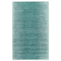Momeni Delhi Striped Hand-Tufted 8' x 10' Accent Rug in Aqua