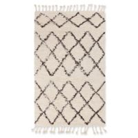 Surya Sherpa Shag 9' x 13' Area Rug in White/Black