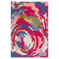 Surya Global Abstract 5' x 7'6 Area Rug in Lime